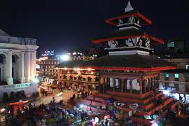 Der Durbar Square von Kathmandu bei Nacht