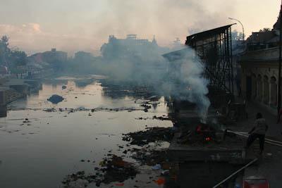 Totenverbrennung in Pashupati