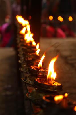 Brennende Lichter