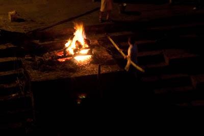 Feuerbestattung unterhalb des Pashupatinath