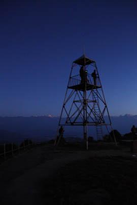 Der Aussichtsturm von Nagarkot