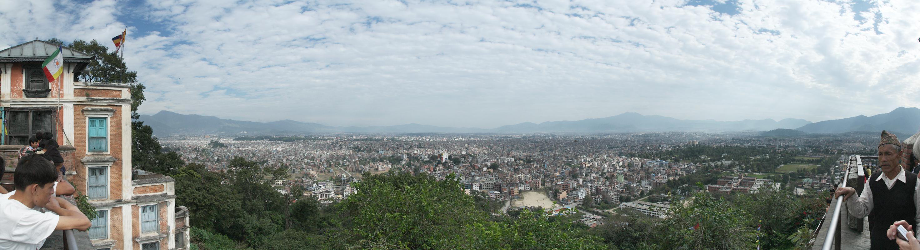 Aussicht vom Monkey Temple über Kathmandu