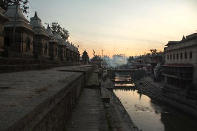 Shiva-Schreine am Bagmati